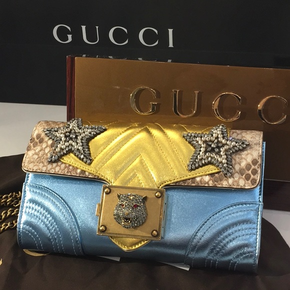 2aba9624c91 Gucci Broadway Star Chain Shoulder Bag 432584